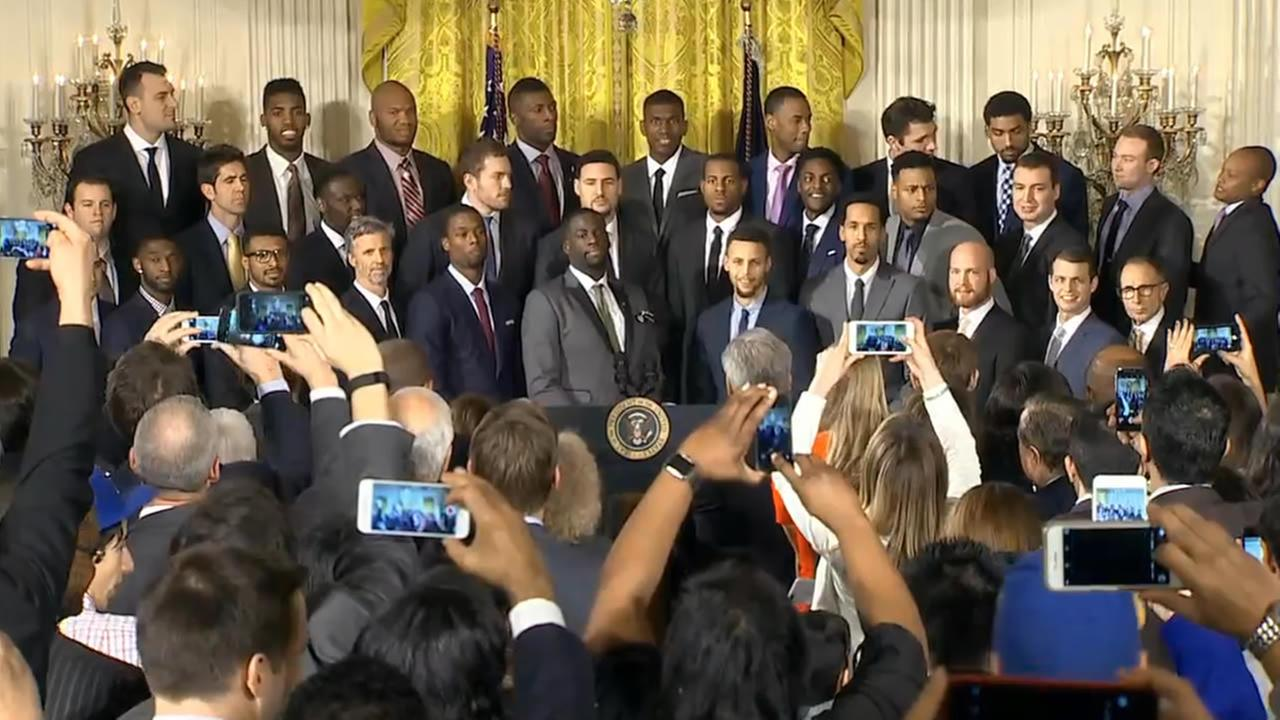 President Barack Obama honored the Golden State Warriors at the White House in Washington D.C. on Thursday, February 4, 2016.