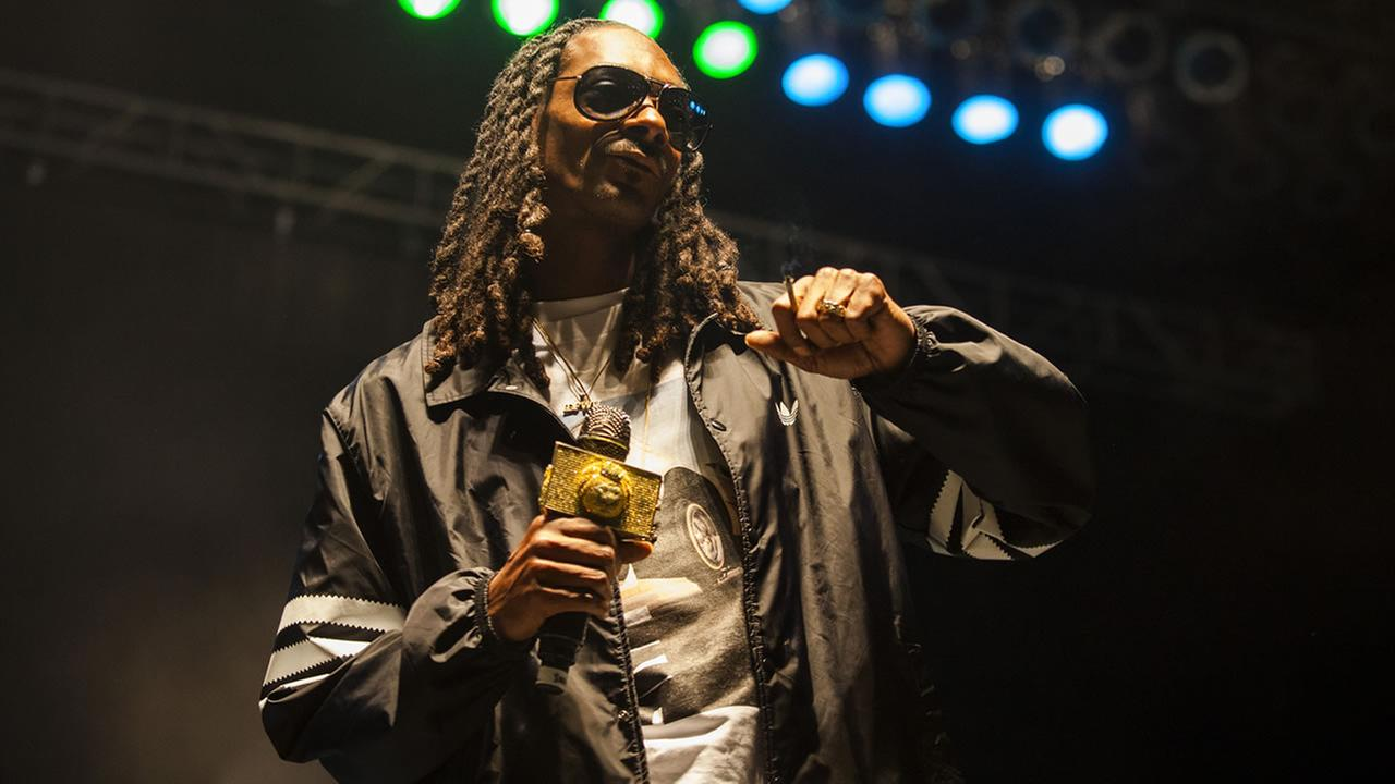 Snoop Dogg seen at Riot Fest and Carnival in Douglas Park on Sunday, Sept. 13, 2015 in Chicago. (Photo by Barry Brecheisen/Invision/AP)