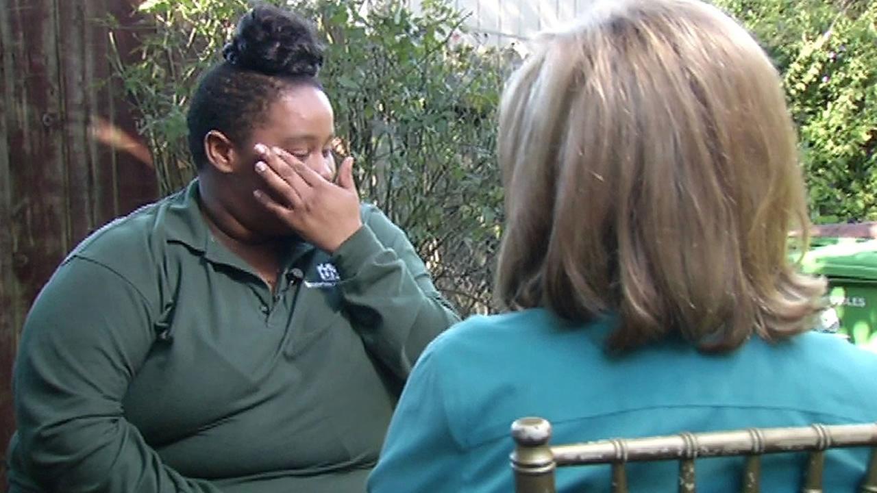 ABC7 News Cheryl Jennings talks with a human trafficking survivor