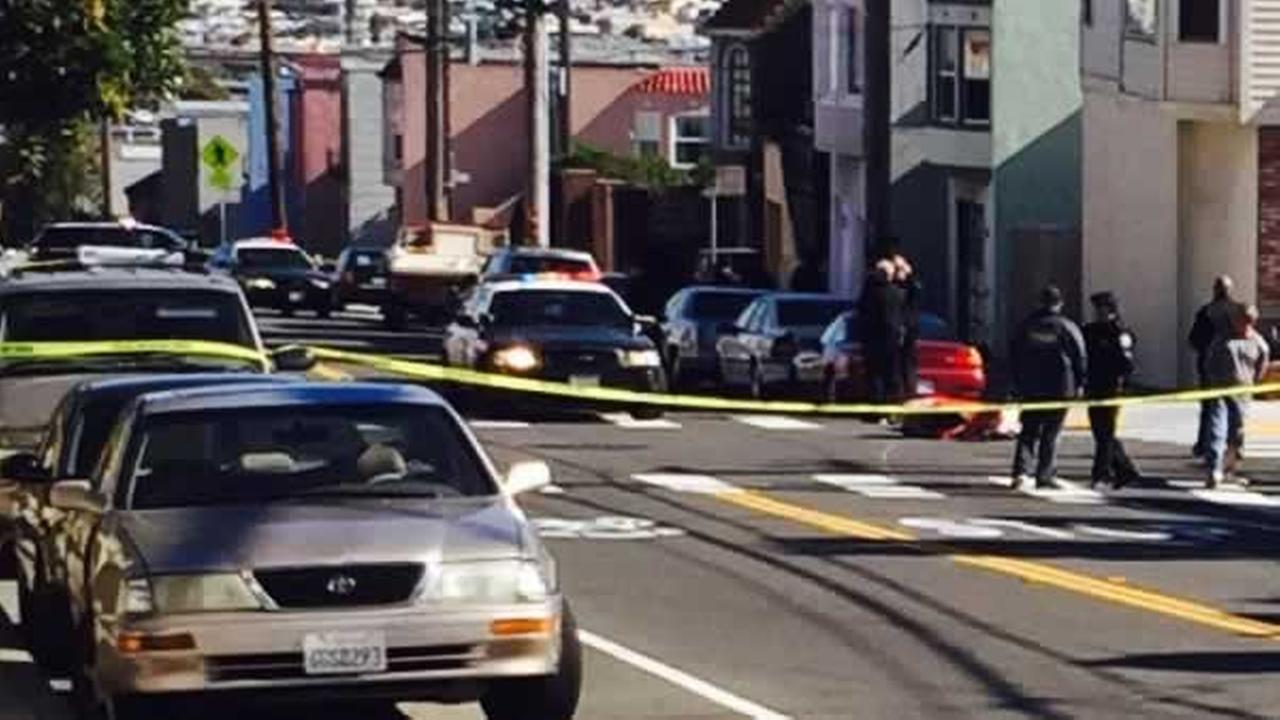 San Francisco police are investigating a possible road rage shooting near Silver Avenue and University Street on Sunday, February 7, 2016.