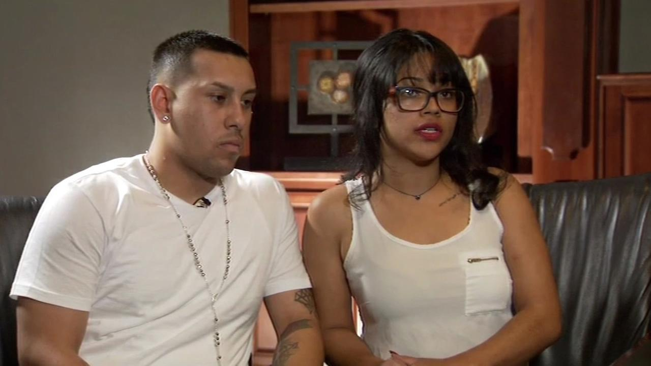 Robert Torres and Jessica Costa of Fresno, Calif. talked to ABC7 News about a fatal shooting at San Franciscos Twin Peaks on Sunday, February 14, 2016.