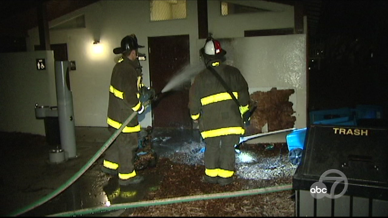 Firefighters battle small fire in San Francisco on Monday, December 3, 2018.