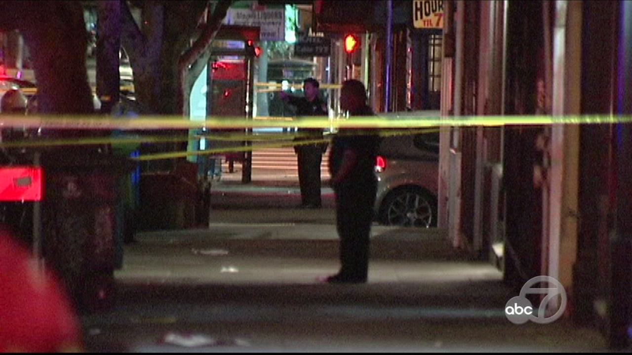 Police investigate shooting in Mission District of San Francisco on Monday, December 3, 2018.