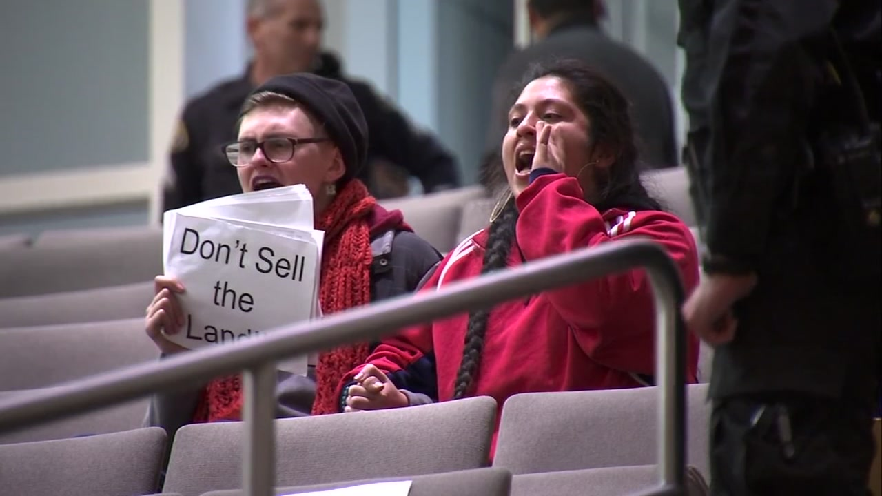 There were occasional outbursts throughout the council meeting, but then a very loud and persistent group of demonstrators got everyone kicked out.