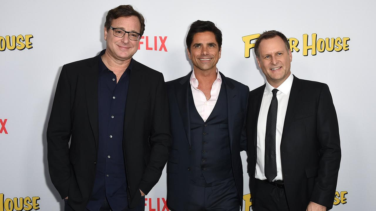 Bob Saget, John Stamos, and Dave Coulier attend the premiere of Fuller House on Tuesday, Feb. 16, 2016 in Los Angeles. (Jordan Strauss/Invision/AP)