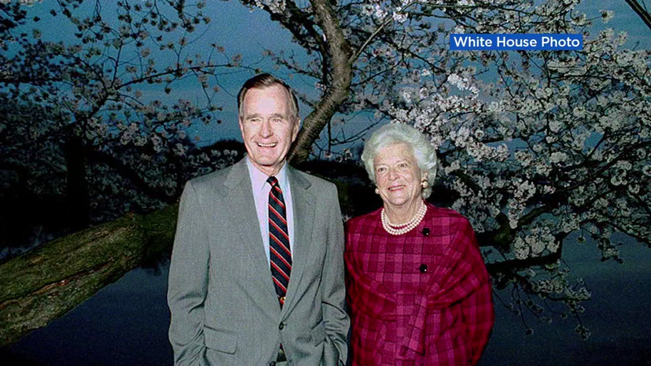 Un-dated photo of former President George H.W. Bush and First Lady Barbara Bush.