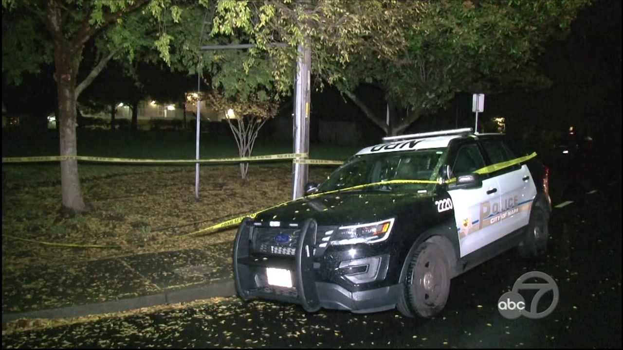 Police at shooting scene in Napa, California on Wednesday, December 5, 2018.