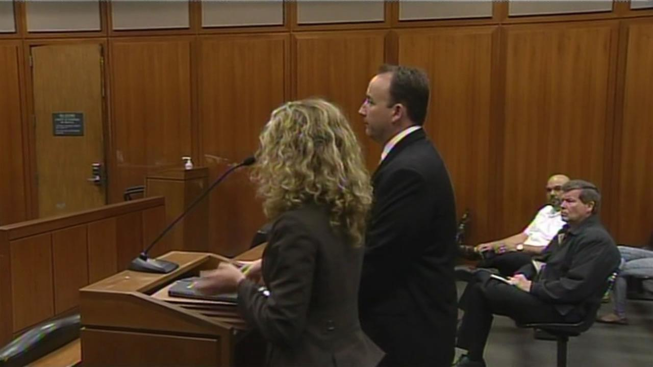 This image shows for San Jose police officer Geoff Graves in a San Jose, Calif. court.