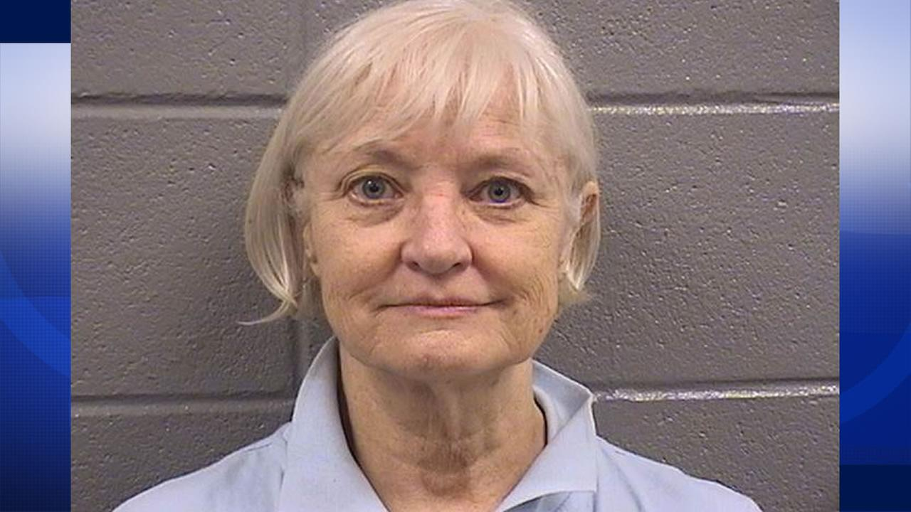 This mugshot shows 64-year-old Marilyn Hartman, who was arrested at Chicagos OHare International Airport for trespassing.