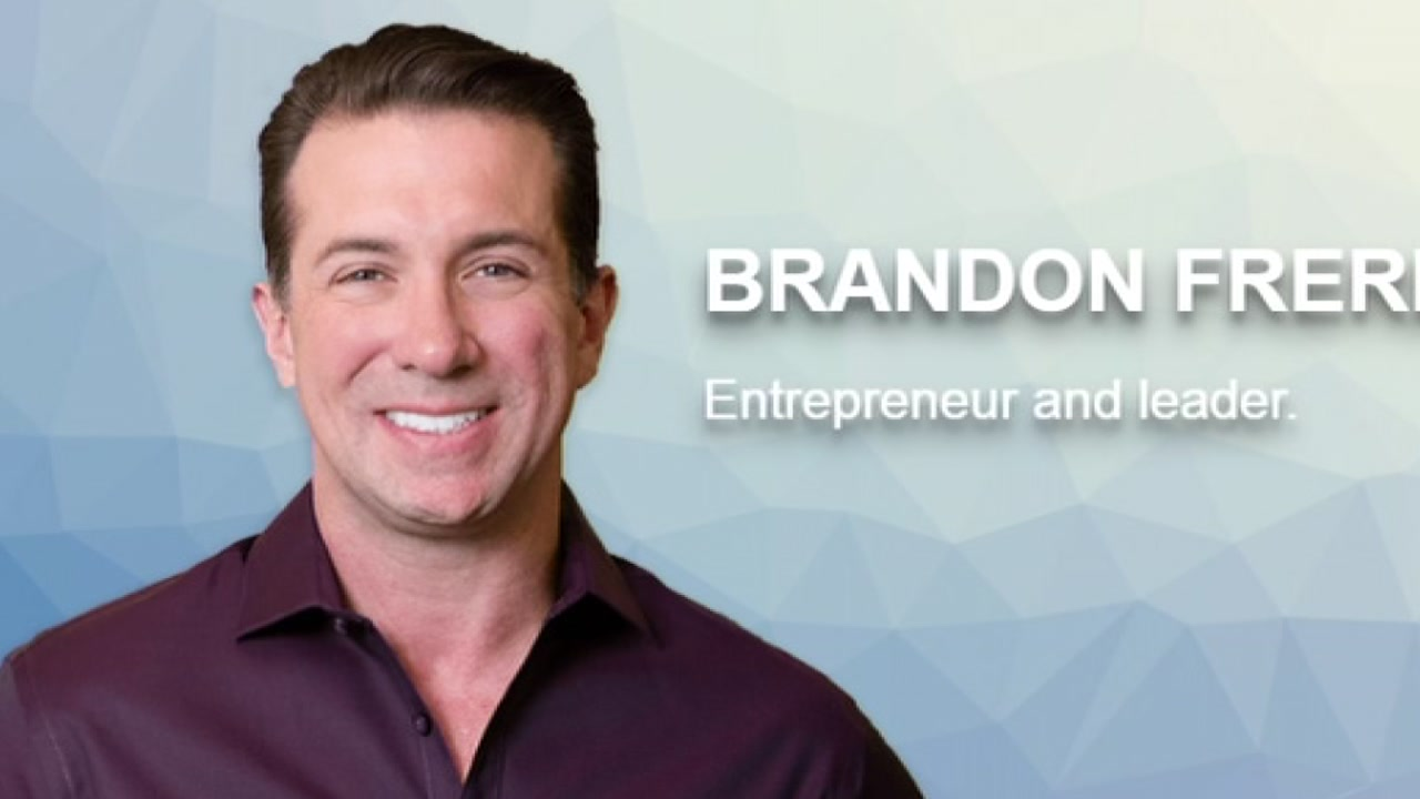 Brandon Frere is pictured on his companys website.