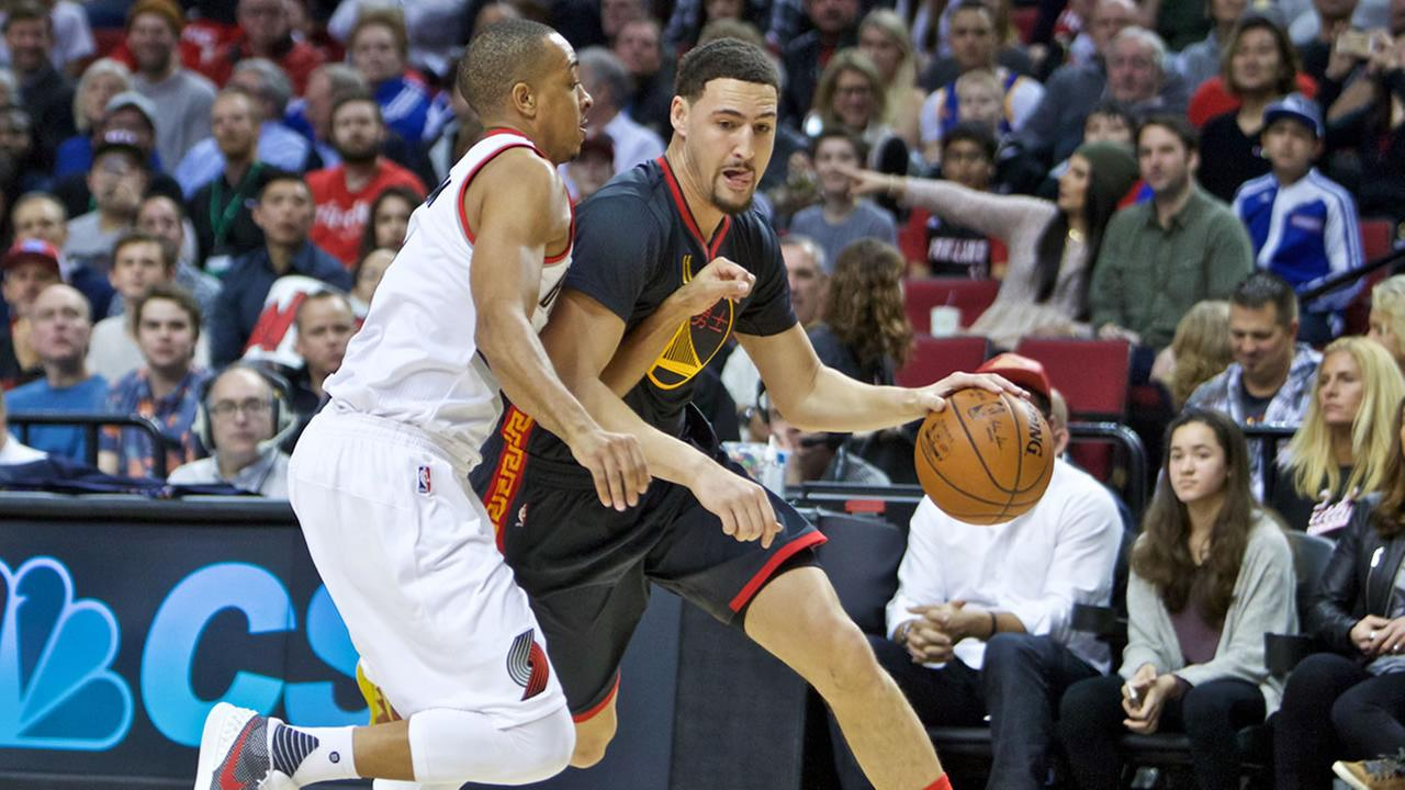 Golden State Warriors guard Klay Thompson