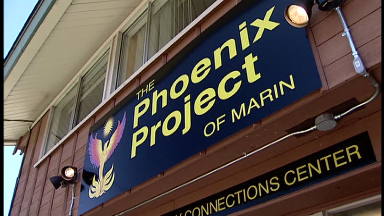 Sign outside The Phoenix Project in Marin City.