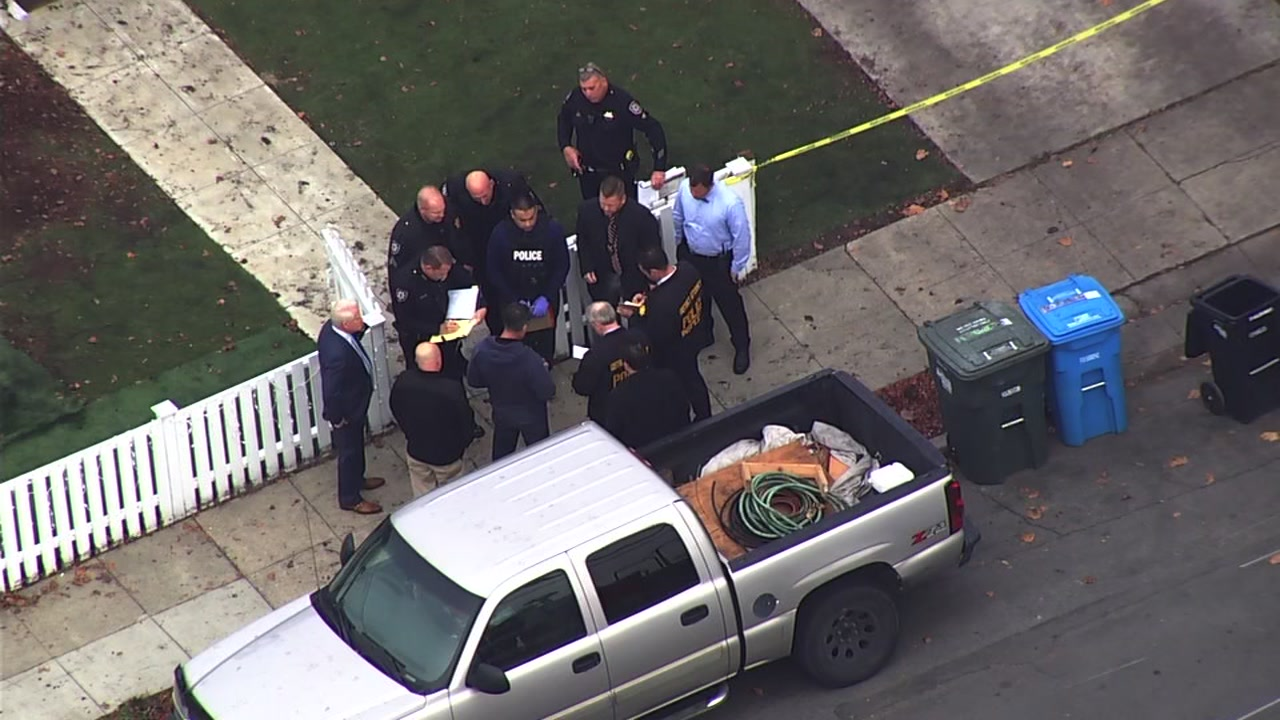 SKY7 is over the scene of an officer-involved shooting in Redwood City, Calif. on Monday, Dec. 10, 2018.