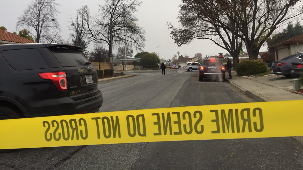 Police investigate fatal hit-and-run crash in Fremont, California on Tuesday, December 11, 2018.