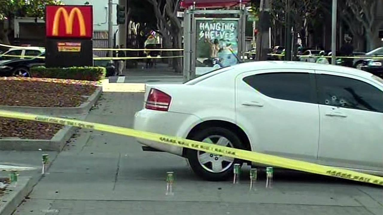 Police are investigating a shooting that occurred outside a McDonalds on Fillmore Street in San Francisco, Calif. on Sunday, February 21, 2016.