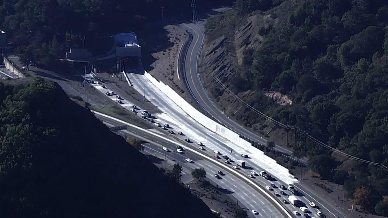 Traffic near Caldecott Tunnel in Oakland, California on Thursday, December 13, 2018.