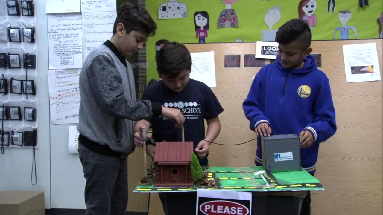 Students at Katherine R. Smith Elementary school in San Jose, Calif. use class projects to show theyre Ready for Anything on Friday, Dec. 14, 2018.