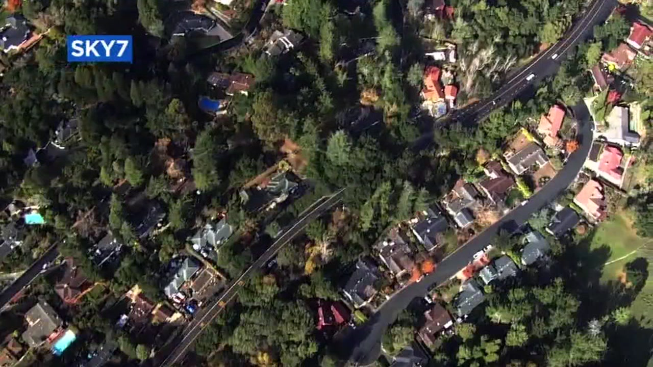 Aerial view of Moraga from Sky7.