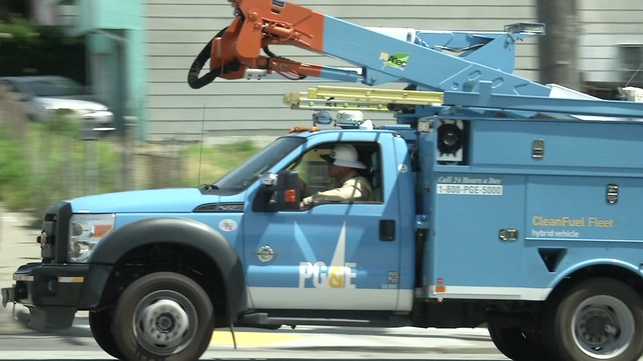 A PG&E utility truck on an unknown date.
