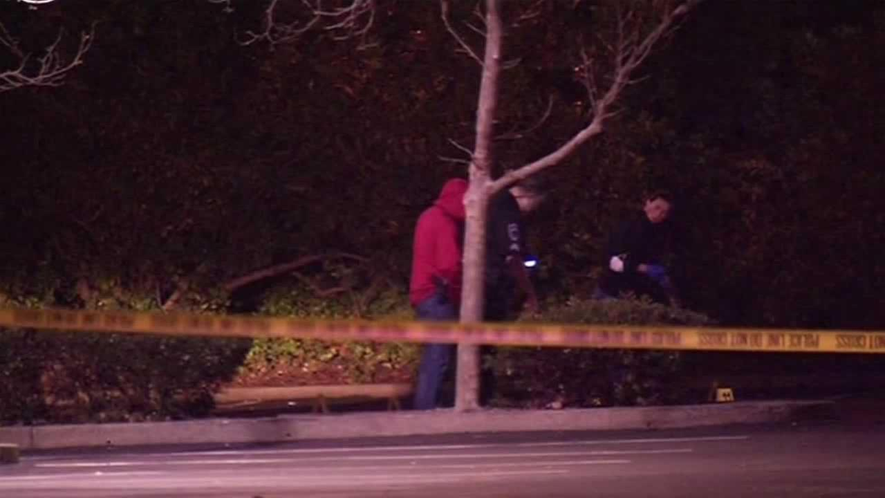 A 19-year-old man was shot in a parking lot in Larkspur, Calif. on Wednesday, February 24, 2016.