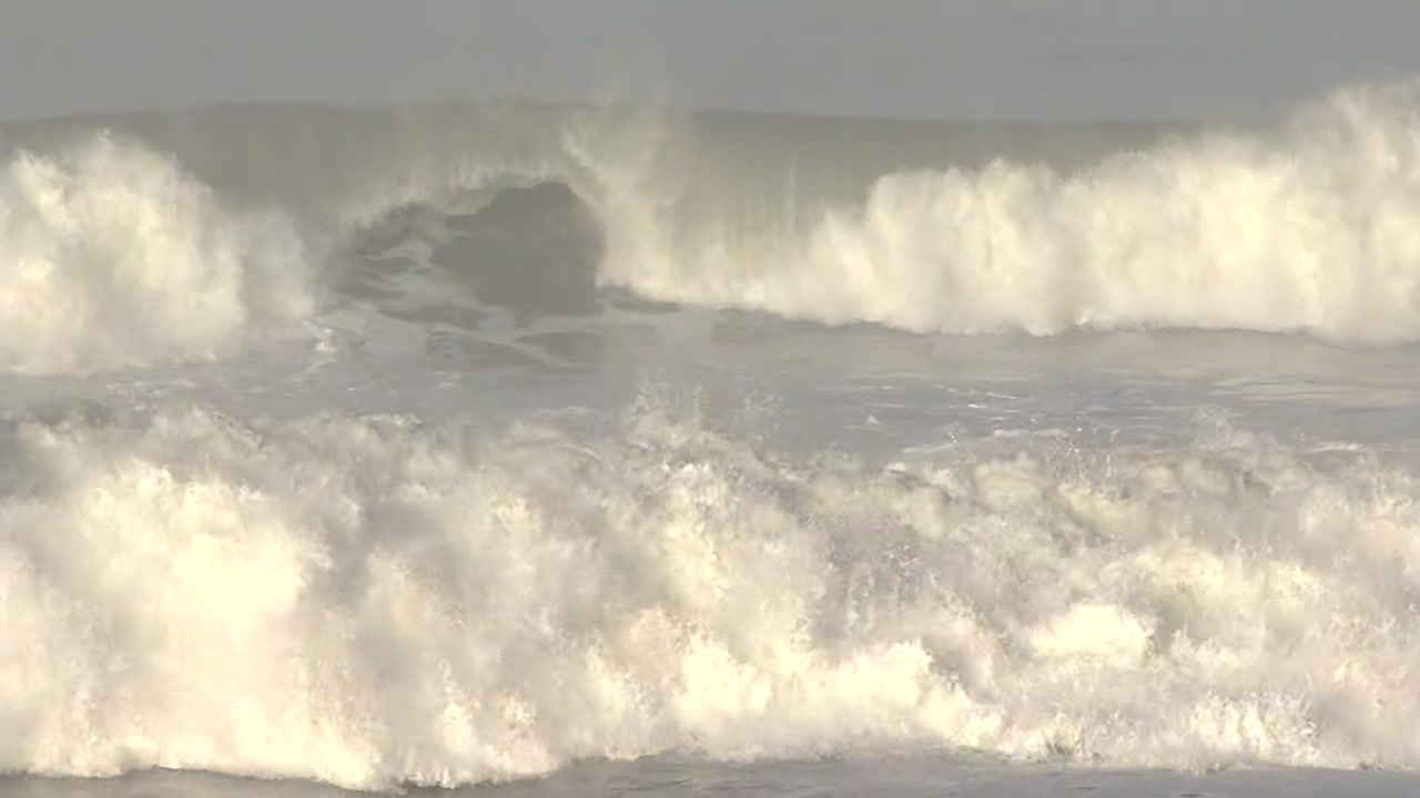 Waves in Pacifica, California on Wednesday, December 18, 2018.