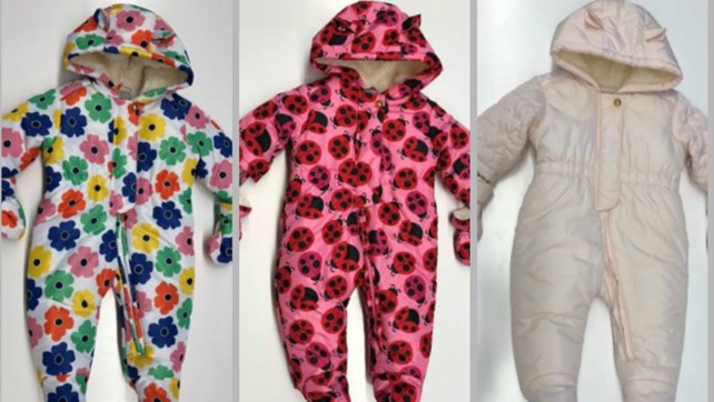 Childrens Place recalled snowsuits