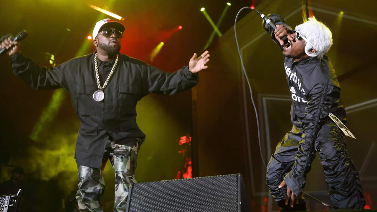 Andre 3000 (R) and Big Boi of Outkast perform at The Sasquatch! Music Festival at the Gorge Amphitheatre on May 23, 2014, in George, Washington. (Photo by John Davisson/Invision/AP)