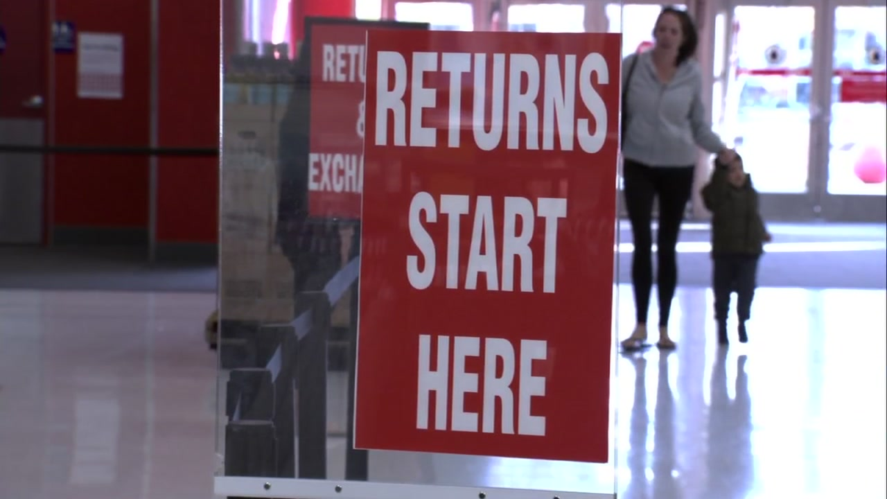 A sign hangs at Target in Walnut Creek, Calif. on Wednesday, Dec. 26, 2018.