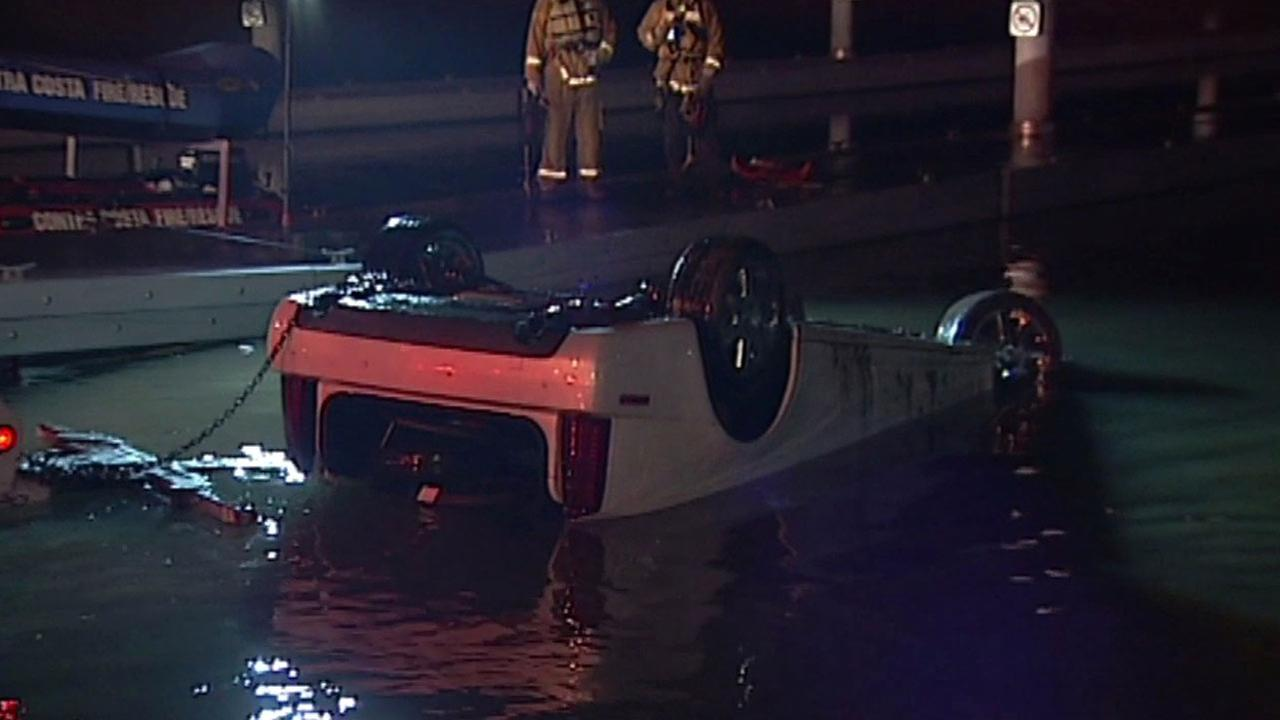 Police are investigating a possible DUI after a woman allegedly drove into the Antioch Marina, Thursday, March 3, 2016.