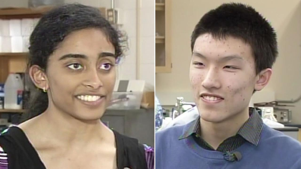 Presentation High Schools Maya Varma and Harker Schools Jonathan Ma, both San Jose residents, are competing for the Intel Science Prize.