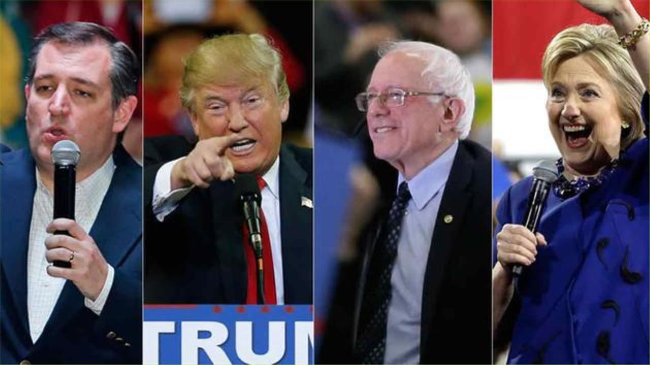 Presidential candidates Ted Cruz, Donald Trump, Bernie Sanders and Hillary Clinton all won big on Super Saturday, March 5, 2016.