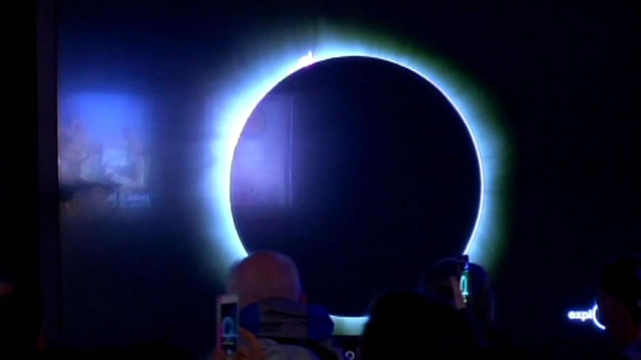 Total solar eclipse lovers watch the rare celestial event at the Exploratorium in San Francisco on Tuesday, March 8, 2016.