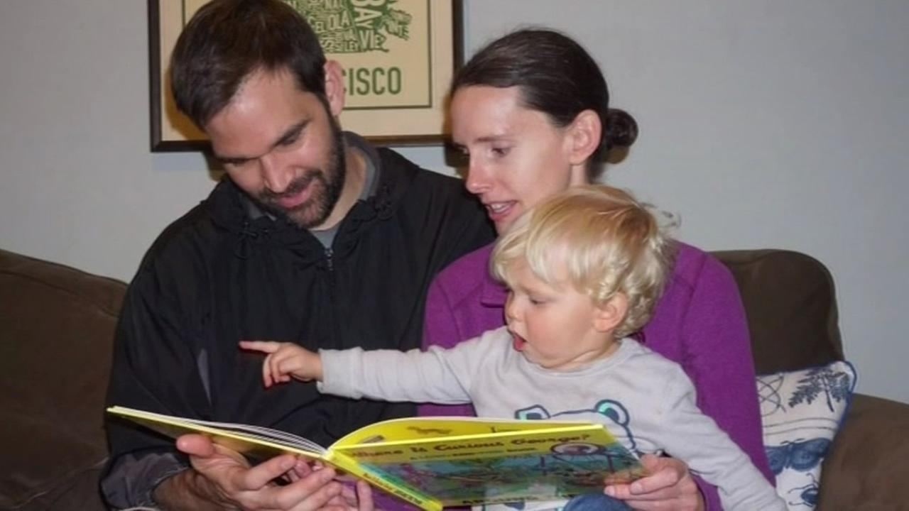 This undated image shows Jeremy Biane, his wife Erin Coe, and their 17-month-old son Austin. The family lost almost everything when their rental truck was stolen in San Francisco.