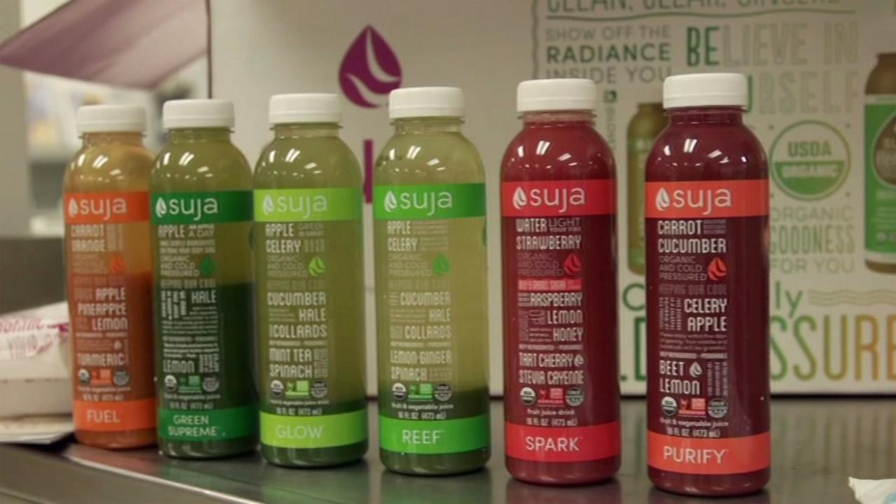 A row of juice cleanses are seen in this undated image.