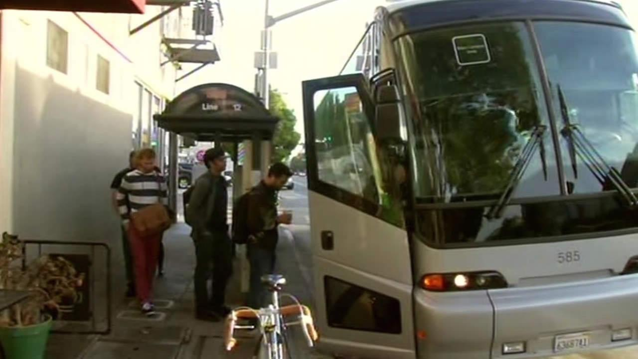 tech bus in San Francisco
