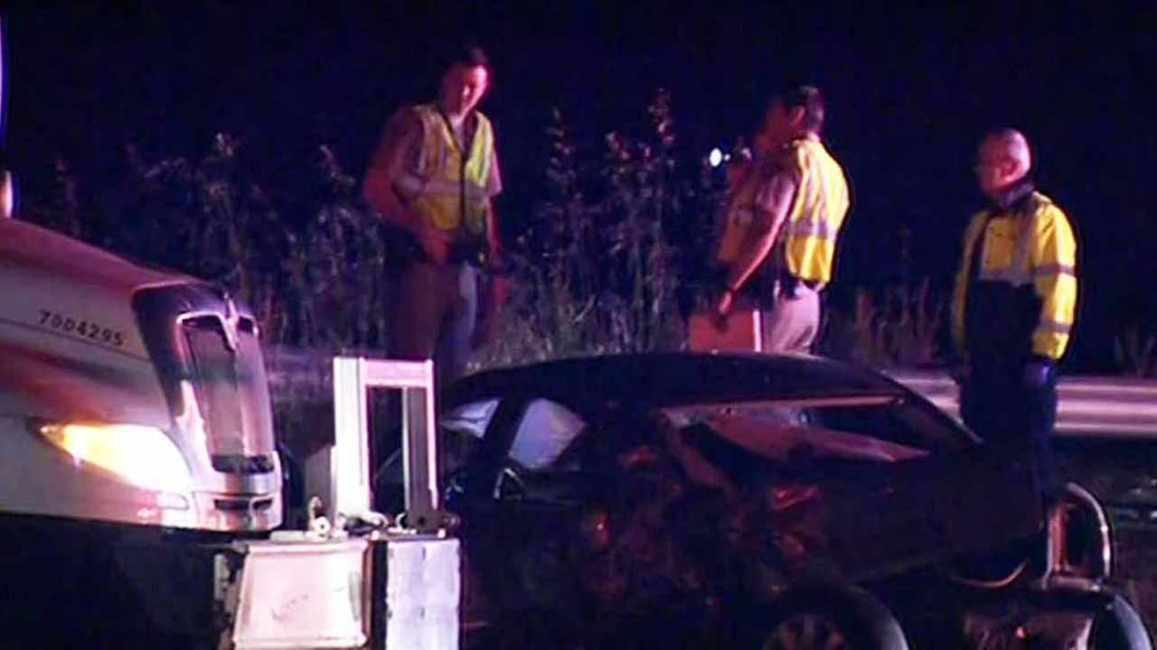Fatal accident on eastbound I-80 in Crockett, California, Thursday, April 21, 2016.