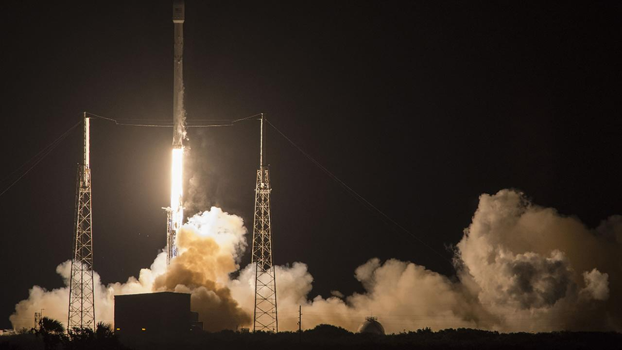 SpaceXs Falcon 9 rocket launches the JCSAT-14 communications satellite at Cape Canaveral, Fla, early Friday, May 6, 2016.