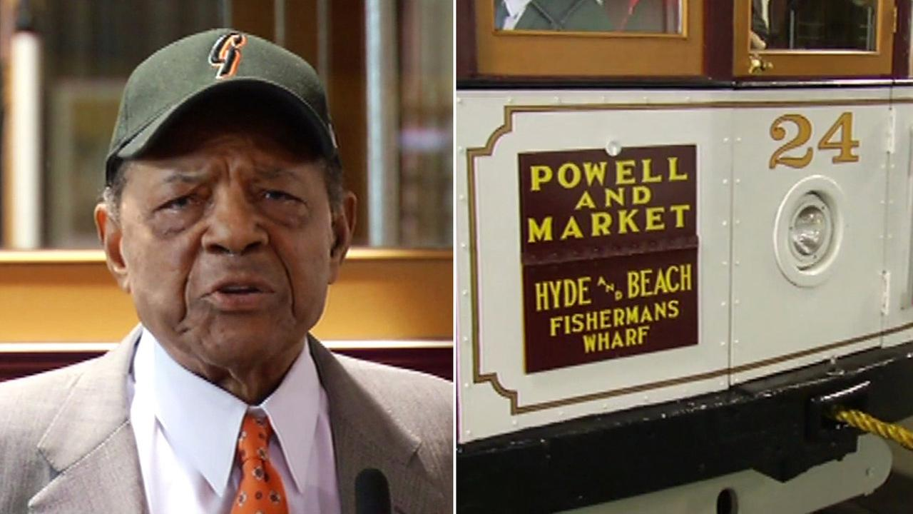 Willie Mays at Cable Car Museum in San Francisco, Friday, May 6, 2016.