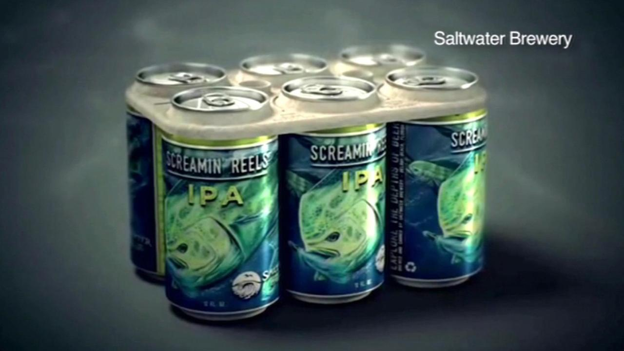 Edible six pack ring designed to save marine life