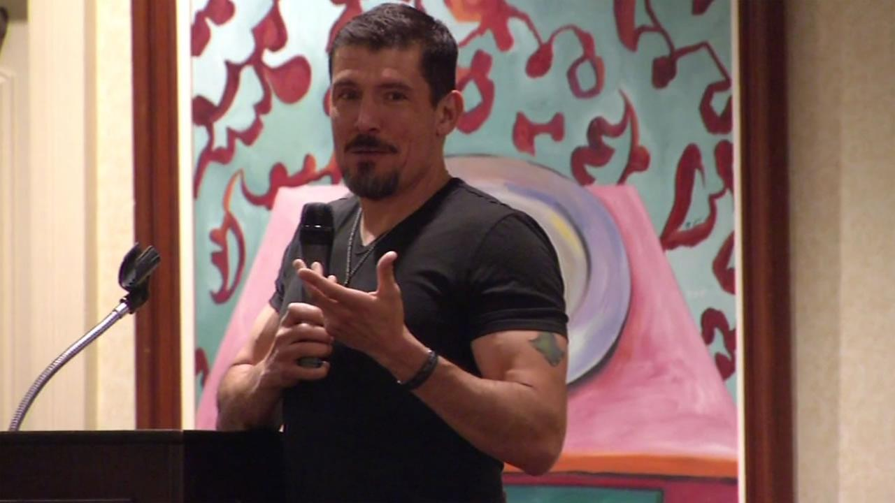 Kris Paronto spoke to a group of Marin County Republicans in San Rafael, Calif. on Sunday, May 22, 2016.