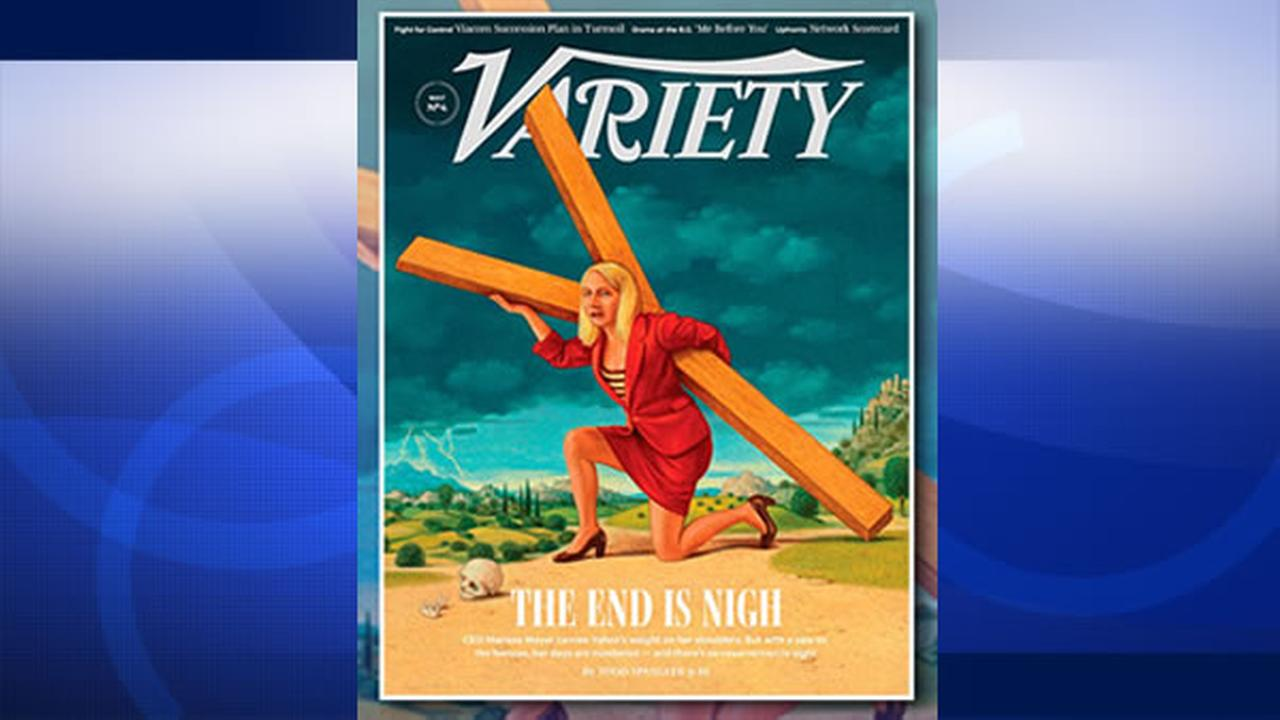 Variety ran a controversial magazine cover showing Yahoos embattled CEO, Marissa Mayer, depicted as Jesus Christ.