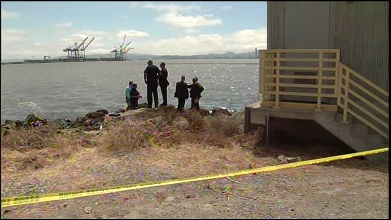 Police in Oakland, Calif. investigate after a torso was found near the Bay Bridge on Wednesday, May 25, 2016.