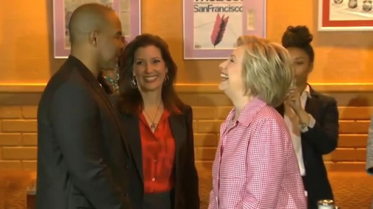 Hillary Clinton met with community leaders at Home of Chicken and Waffles in Oakland, Calif. on Friday, May 27, 2016.