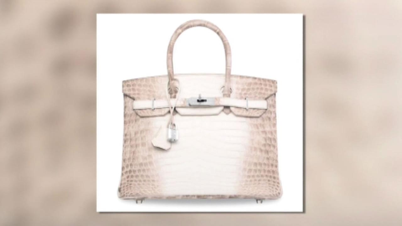 This image shows a Hermes Birkin bag that recently sold for more than $300,000.