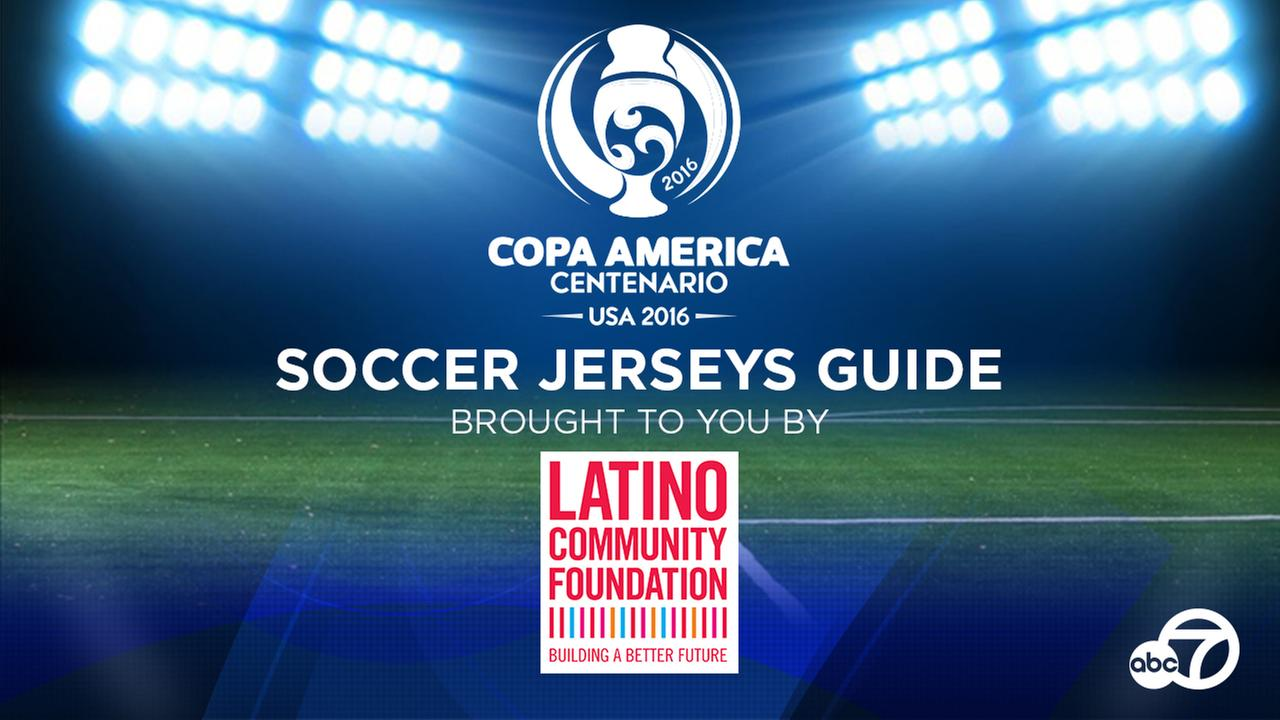 The historic Copa America Centenario soccer tournament will hold 32 matches all across the United States June 3 - 26.  Heres a close look at jerseys the teams will wear!
