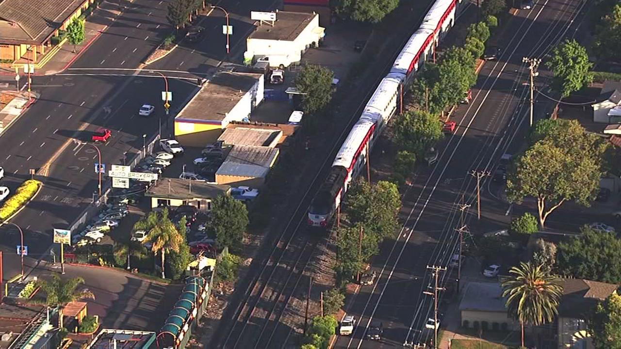 Caltrain fatally struck pedestrian in Redwood City, Calif. on Wednesday, June 1, 2016.