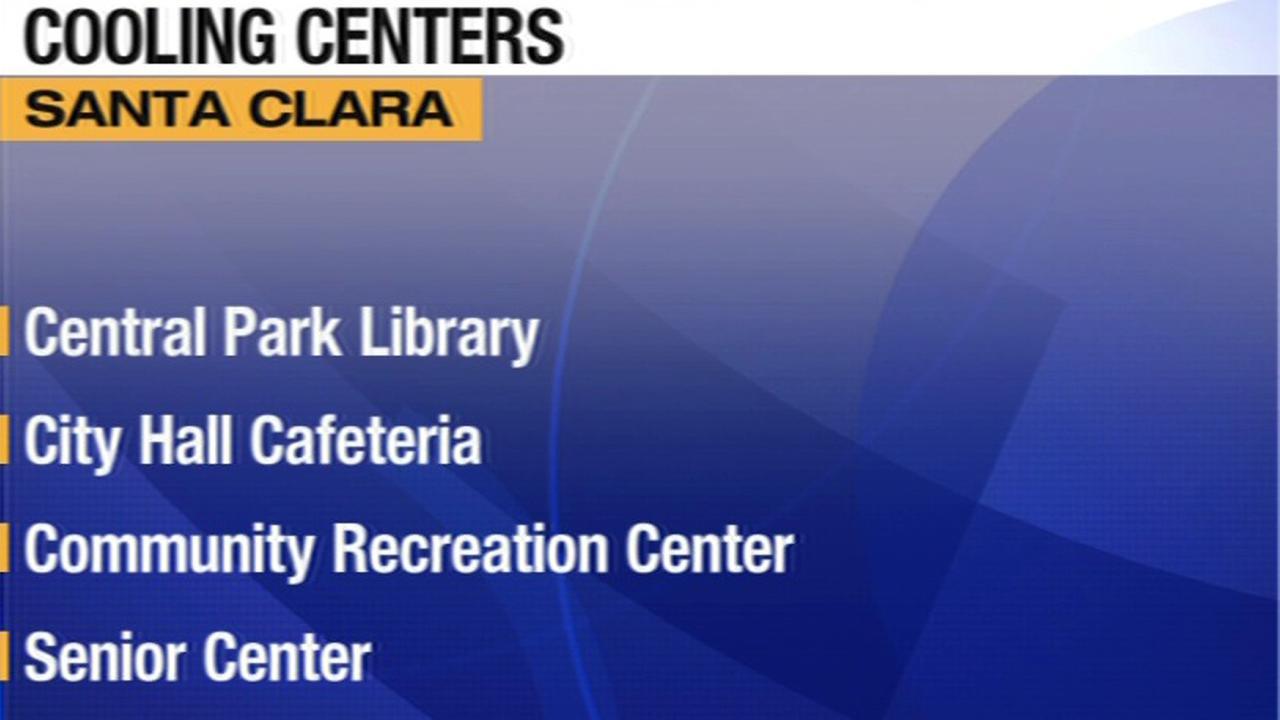 Cooling centers in Santa Clara