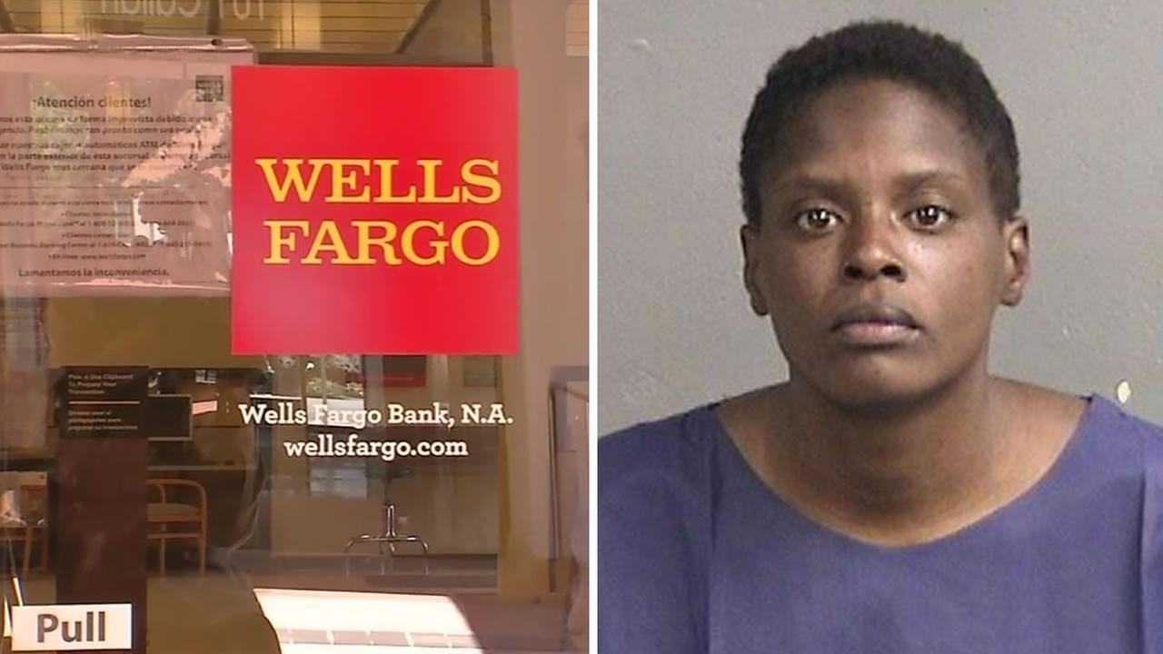 Police say 32-year-old Iyona Hammond stabbed a 12-year-old boy at a Wells Fargo in San Leandro, Calif. on Monday, June 6, 2016.