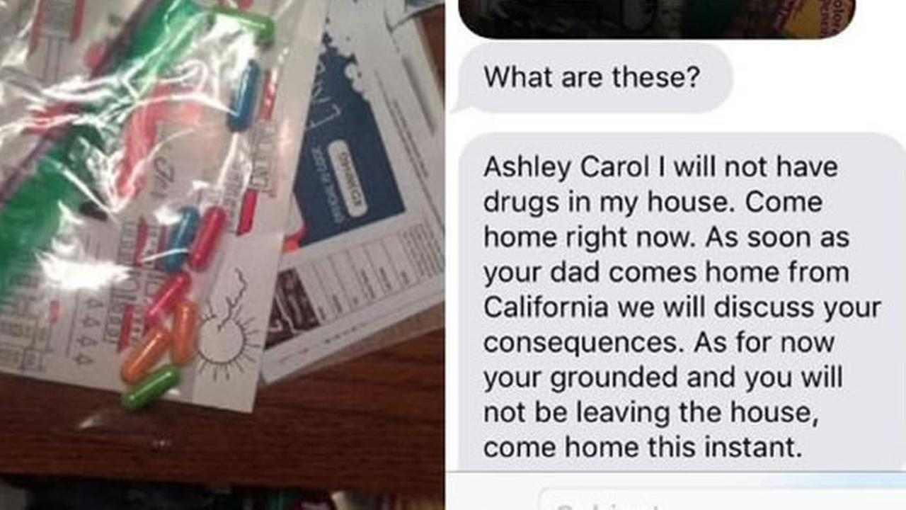 A daughters response when her mother thinks she found drugs is going viral.