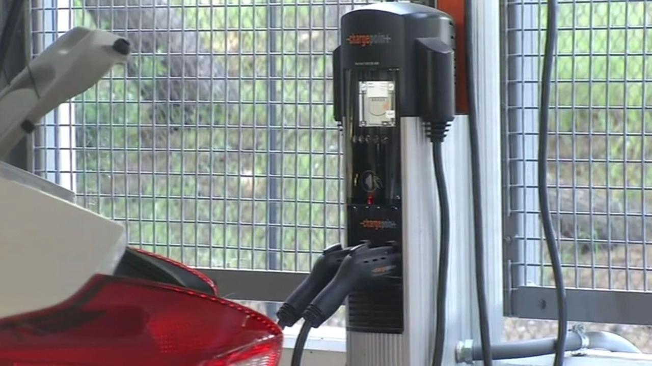This image shows an electric vehicle charging station.